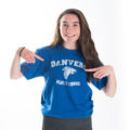 Danvers Wears it Forward soft t-shirt in royal blue